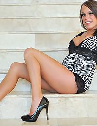 Sexy Haley In Black Dress