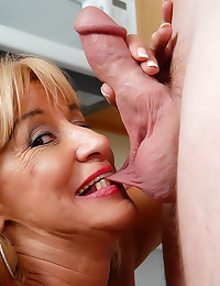 Granny loves cock and balls