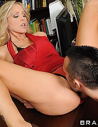 Blonde milf cock taker