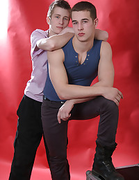 Smooth young men model and suck