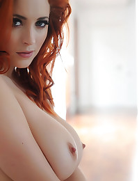 Lucy Vixen and her big natural tits with milky white skin are solo