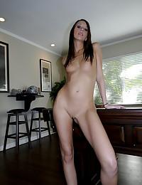 Slender Beauty Katie Spreads Pussy