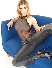 Fishnet body stocking is sexy