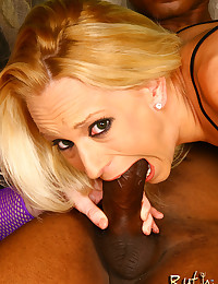 Sluts share big black cock