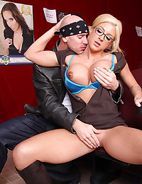 Pigtailed Blonde Leya Gets Sticky Facial