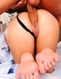 Big cock footjob and fuck