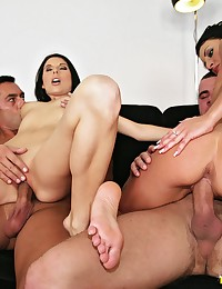 Foursome with two Euro sluts