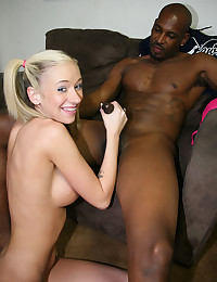 Pigtailed Teen Tames Black Dong