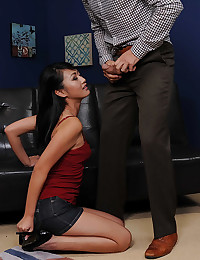 Luscious Asian Gets Covered In Cum