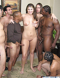 Nika Kay facialized by multiple guys