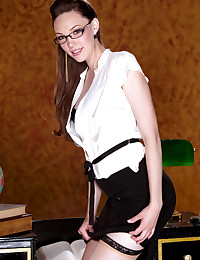Aria Amor is a sexy as hell business woman today.