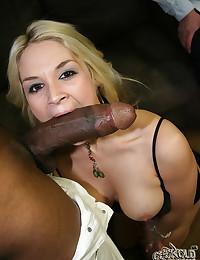 Tiny White Teen Eats Black Dick