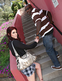 Curvy redhead and black guy