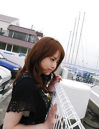 Amazing Japanese girl outdoors