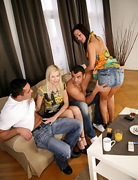A group fuck with tasty sluts