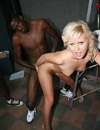 Surrounded by black cock