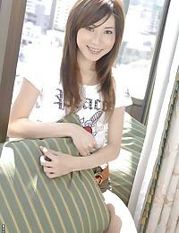 Asian cutie in her t-shirt