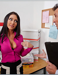 Fucking a slut on his desk