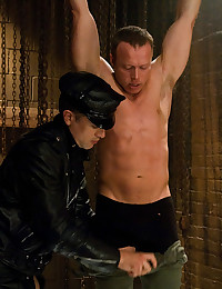 Tied gay submissive