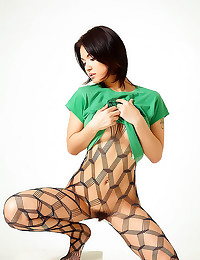 Babe in sexy body stocking