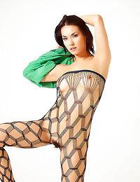 Babe in sexy body stocking