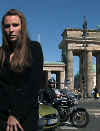 Harmony Rose is bound and naked in front of one of Europe's most famous monuments!