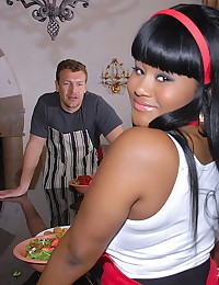 Voluptuous Ebony Maid Stacey Gets Pumped