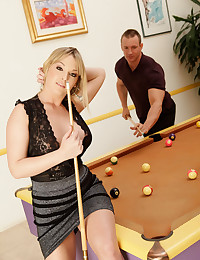 Pool playing blonde hottie fucked