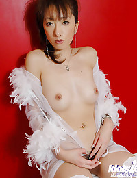 Hot in Her Feather Outfit