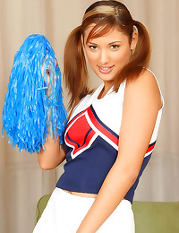 Solo cheerleader with natural...