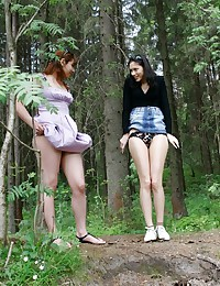 Two Naughty Teens Need To Piss