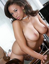 Busty Ebony Babe Gets Anal Impaled