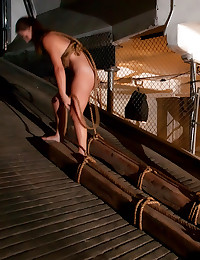 Rope fun and sex with slut