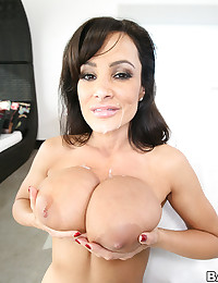 Luscious Brunette Gets Blasted With Cum