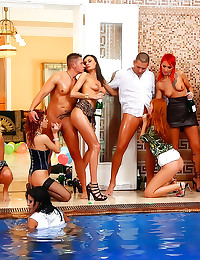 Euro pool party turns to orgy