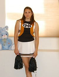 Check out Michelle from FTV Girls dressed as a cheerleader.