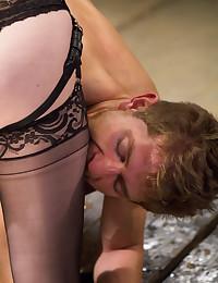 Strapon wielding mistress fuc...