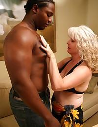 Black man fucks blonde mature
