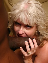 Black man fucks blonde mature