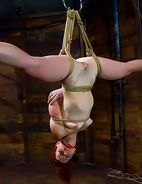 Tied up girl fisted deep