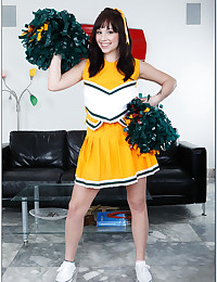 Horny Brunette Cheerleader Slammed