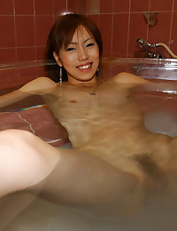 Asian with hairy vagina