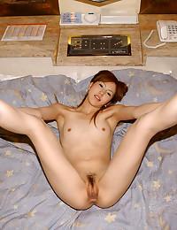 Asian with hairy vagina