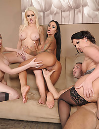 Three Horny Ladies Share Fat Dick