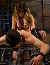 Strapon mistress fucks guy