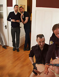 A pervert coach tries to seduce an innocent and is caught by police who teach him a lesson by humiliating and fucking him in front of the neighbors.