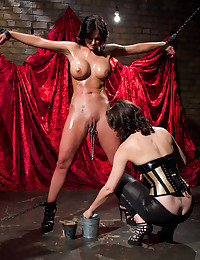 Luscious Oiled Babe Tied And Pleasured