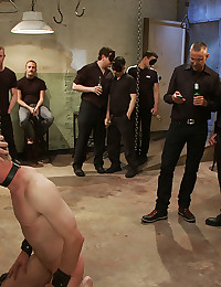 Meat factory gay group play