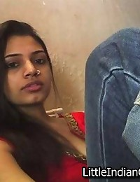 Pretty Indian girl sucks cock...