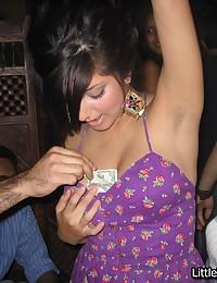 Pretty Indian girl sucks cock...